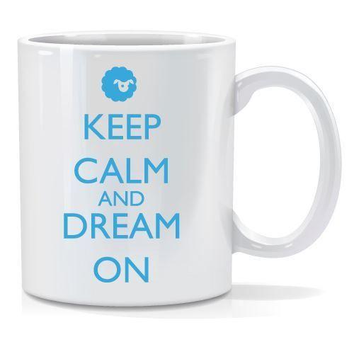 Tazza personalizzata Keep calm and dream on