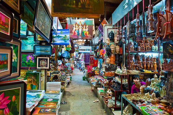 Khu chợ Nga ở Phnom Penh là địa điểm mua sắm lý tưởng