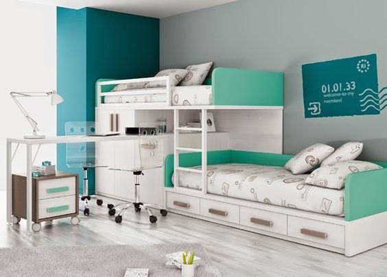 Dormitorios infantiles y juveniles para ni as ni os y for Cuartos para ninas y adolescentes