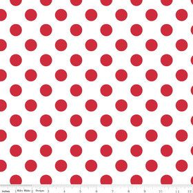 Riley Blake Medium Dots Red Polka Dots  by spiceberrycottage, $8.75