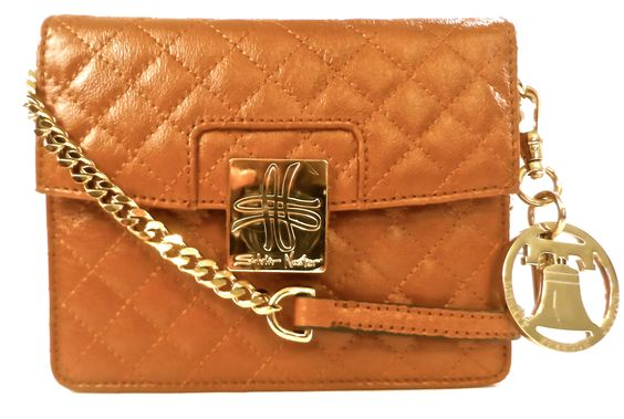 Reagan Cross body with Liberty Bell Charm and constitution lining--#PowerofthePurse www.Sylvia Noster.com
