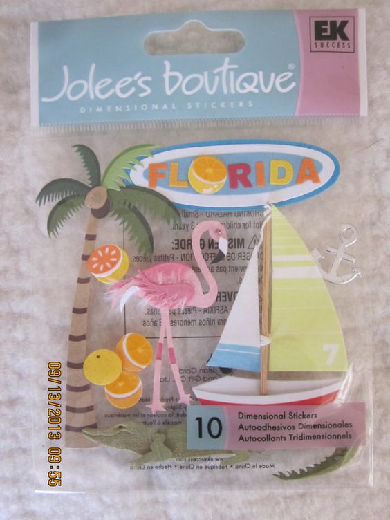 Florida - Texas - Paris Dimensional Stickers from Jolee's Boutique by WhimseysByAnne, $5.00