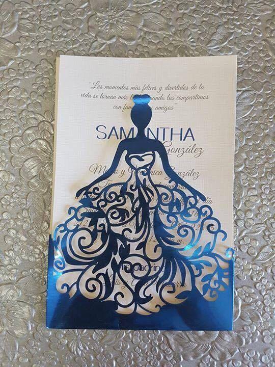 Vestido silueta corte invitación de la boda por ArteColorStudio: