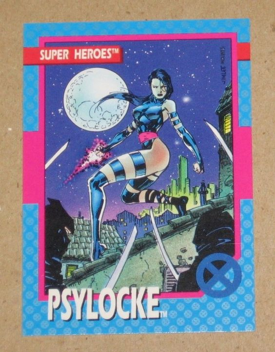 X-Men Series 1 (Impel 1992) Card #12 Psylocke EX