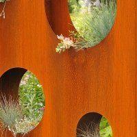 pflanzwand anna outdoor cortenstahl rund. Black Bedroom Furniture Sets. Home Design Ideas