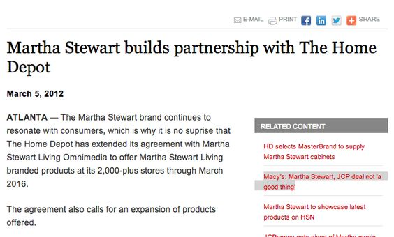 Martha Stewart still has a strong brand and many companies look to partner with her in new endeavors.