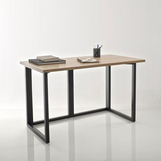 Image FAGDA Ash Veneered Oblong Desk Top La Redoute Interieurs