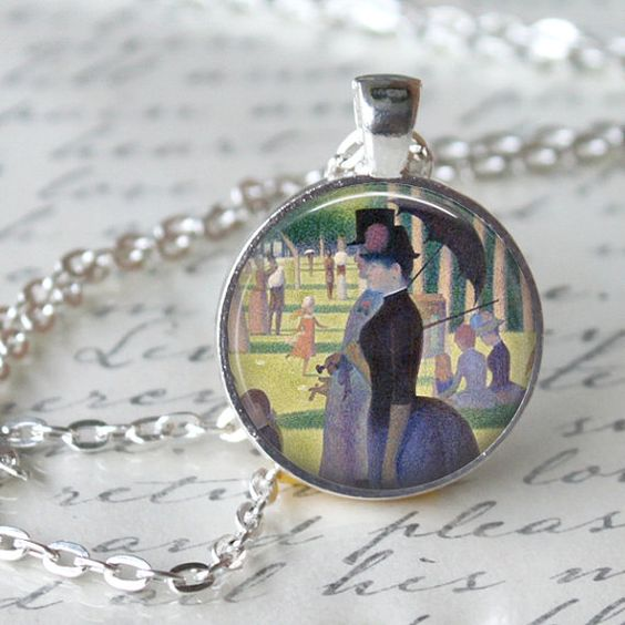 SEURAT  Pendant Necklace  A Sunday Afternoon by LiteraryArtPrints #literary #jewerly: