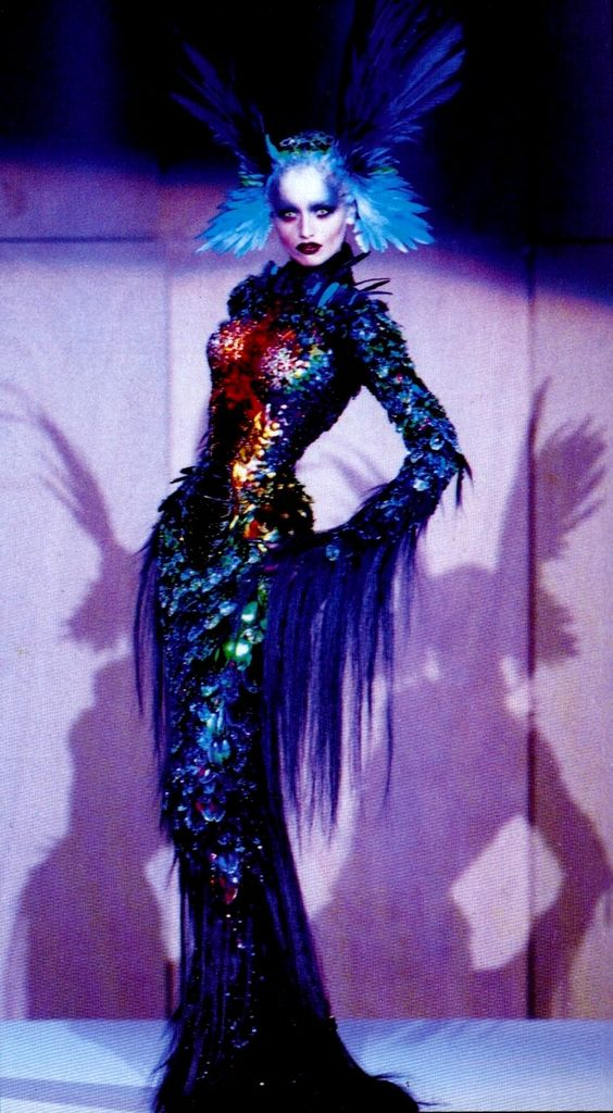 mugler chimera gown corsetry by mr pearl beadwork by an