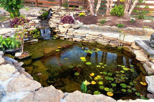 Average Cost To Install A Backyard Pond Is About 7 000 8 500 Plastic Pond With Typical Fish With A Bridge And Edging Pond Design Ponds Backyard Backyard