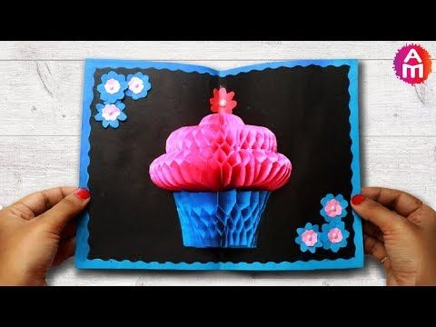 Diy 3d Cake Pop Up Birthday Card Happy Birthday Greeting Card Artsy Birthday Greeting Cards Diy Greeting Cards For Birthday Happy Birthday Greeting Card