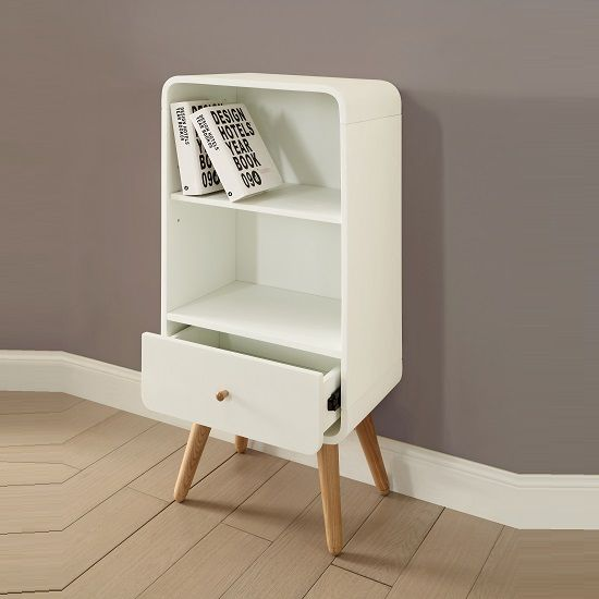 Worcester Wooden Small Bookcase In White Ash With 1 Drawer | Furniture |  Pinterest | Small Bookcase, Worcester And Ash