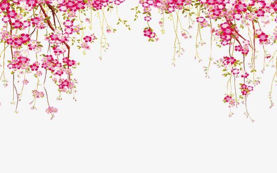 Beautiful Purple Round Flowers Transparent Frame Cicekli Celenk Cicekli Desenler Cicek