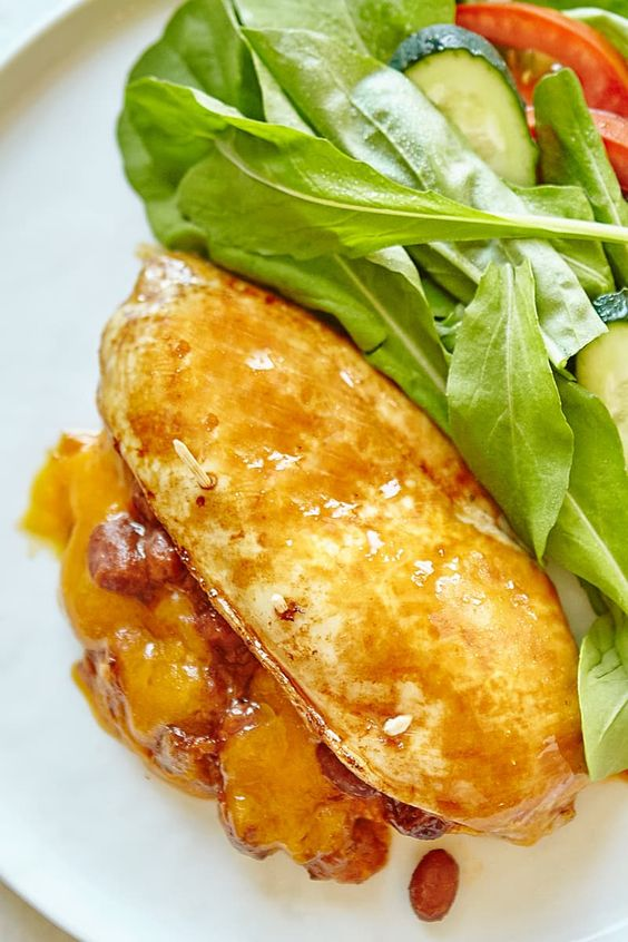 Recipe: Chili and Cheese Stuffed Chicken Breast — Recipes from The Kitchn   The Kitchn