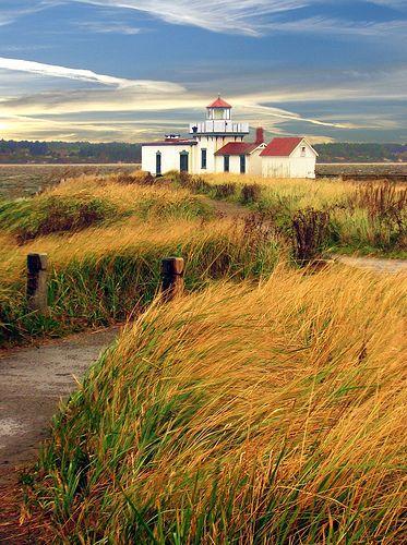 West Point Lighthouse, Seattle, Washington, USA