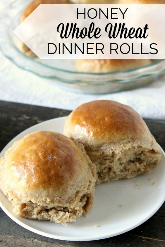 These honey whole wheat dinner rolls are beautifully golden brown with ...