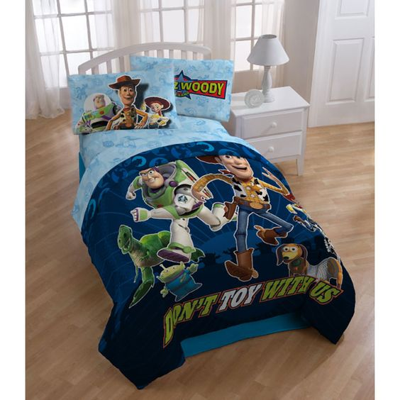Western Bedroom Tank Toy Box Or: Disney Pixar Toy Story Twin 4-piece Bed In A Bag By Disney