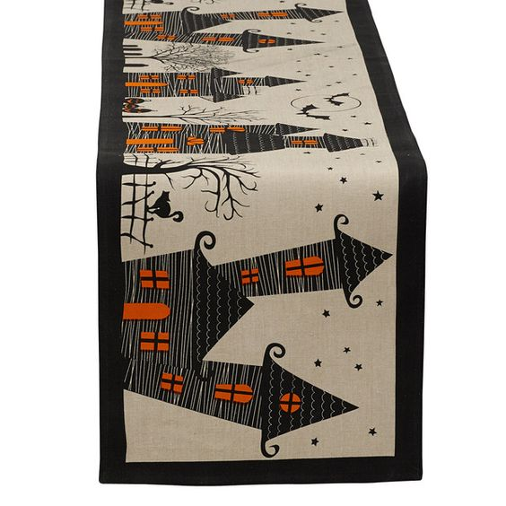 Haunted Hollow Printed Table Runner