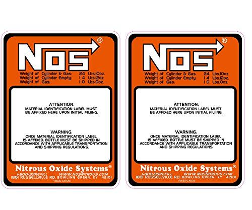 Dracary Nitrous Bottle Label Sticker Decal Oxide 10lb 2pcs Nitrous Bottle Bottle Labels Stickers Labels