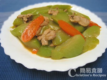 合掌瓜炒肉片 Stir-Fried Chayote with Pork Fillet | Recipes ...