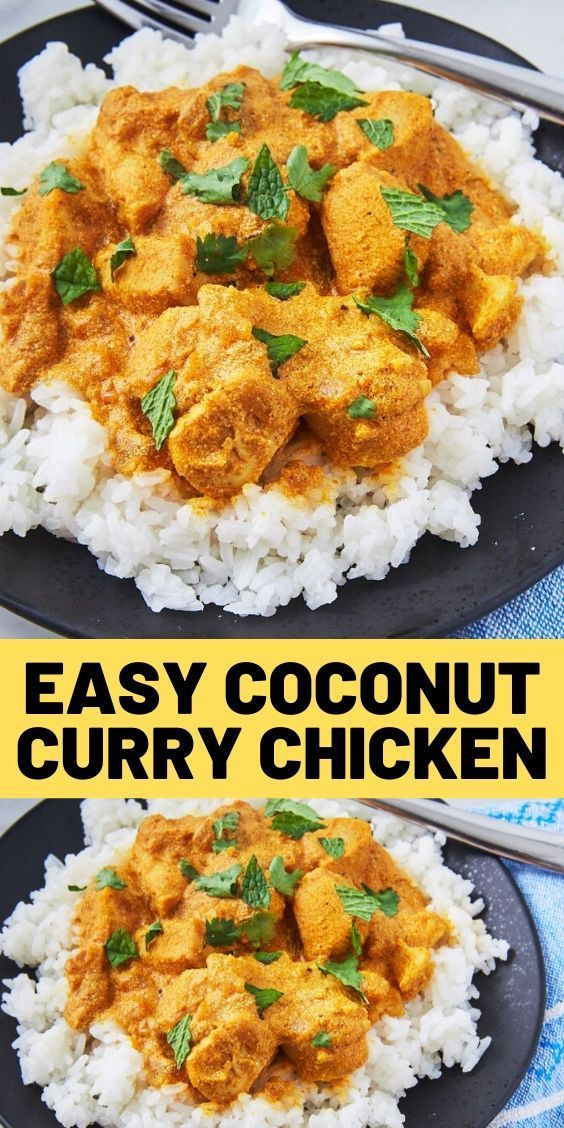 Dinner Recipes Halal Dinner Recipes 2020 Dinner Recipes Under 500 Calories Dinner In 2020 Curry Chicken Recipes Easy Chicken Recipes Coconut Curry Chicken Recipes