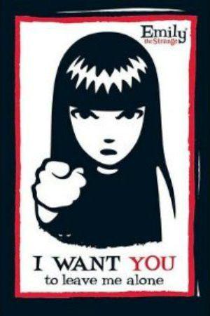 """ILL00014 """"Emily the Strange - I Want You"""" (24 X 36)"""