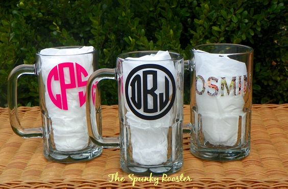 Personalized 20 oz Beer Mug by TheSpunkyRooster on Etsy, $16.00
