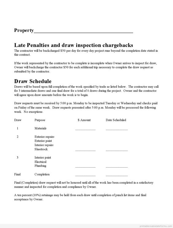 Subcontractor Agreement Real Estate Forms