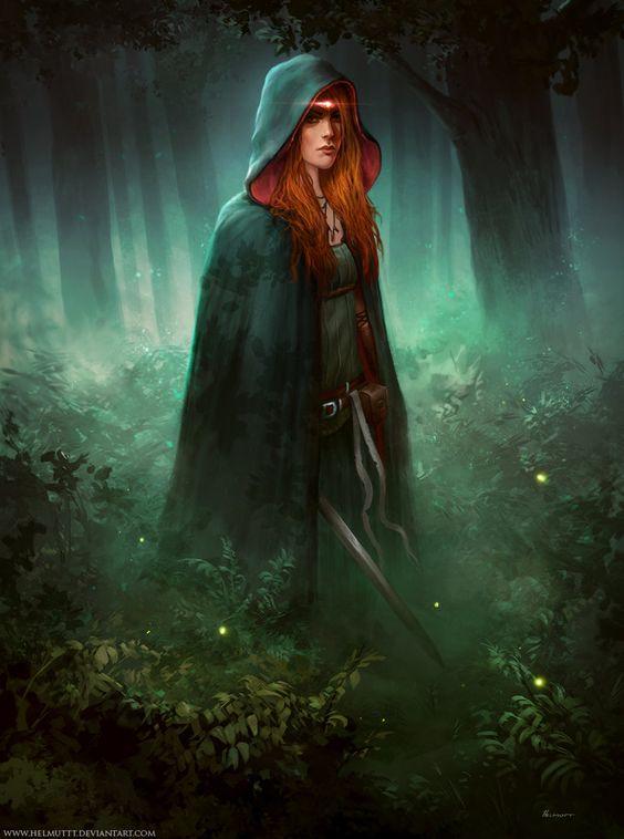 Rebecca of York Art by HELMUTTT | Digital Art / Drawings & Paintings / Fantasy | Character Concept Rogue Assassin Ranger Spellblade Spellsword