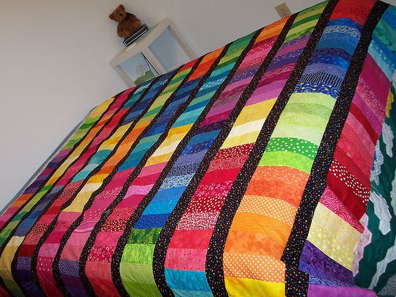 strip quilts | Strip quilt top