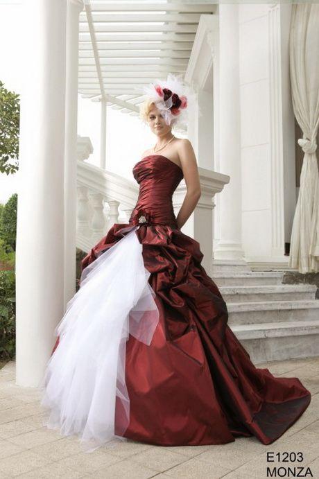Robe de mariee rouge et blanche  ROBES DE MARIEE ROUGE  Pinterest ...