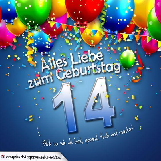 Geburtstagswunsche 14 geburtstag