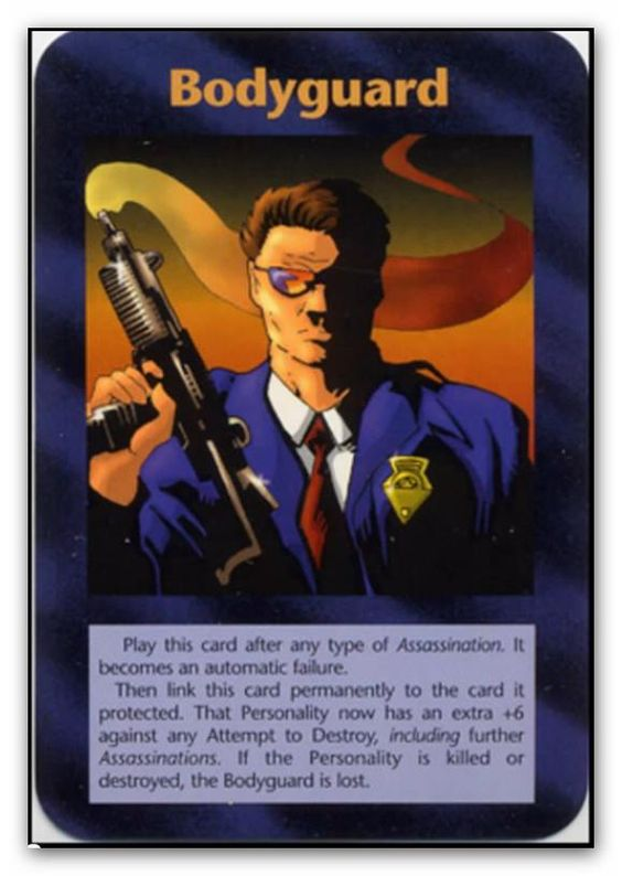 Bodyguard illuminati new world order inwo is a collectible card game ccg that was released - Bodyguard idee ...