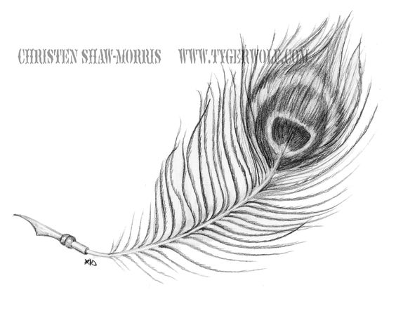 Peacock Feather Tattoo Black And White - CreativeFan  |Peacock Tattoo Black And White