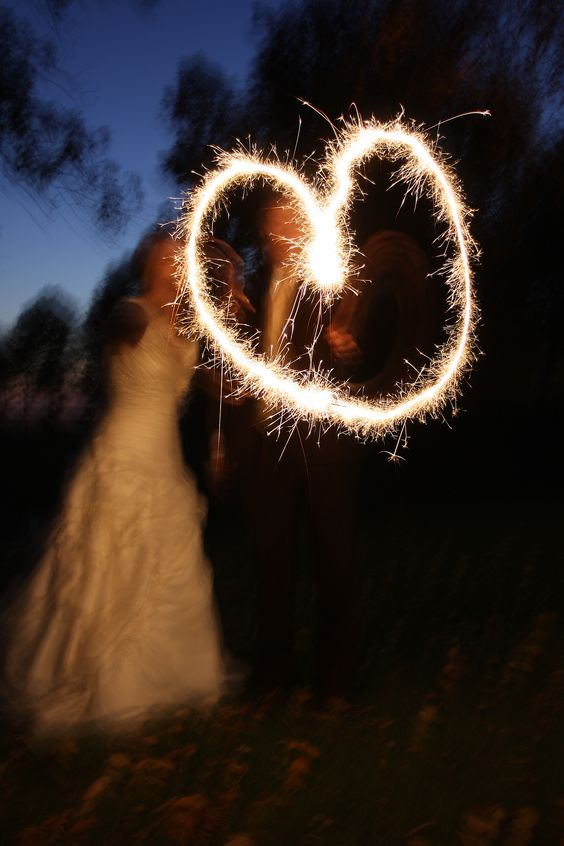 {Firework Heart for wedding picture}