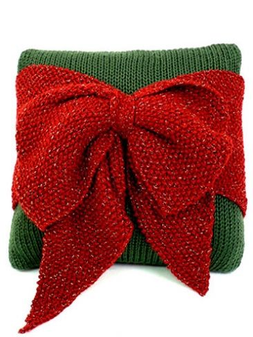 Bow pillows, Christmas bows and Knitting patterns on Pinterest