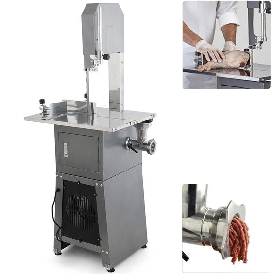 550W Stand Up Meat Band Saw & Meat Grinder Dual Electric Food Produce Processor #Onebigoutlet