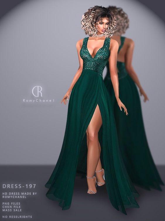 Rc Dress 197 Dresses Sims 4 Dresses Party Dress