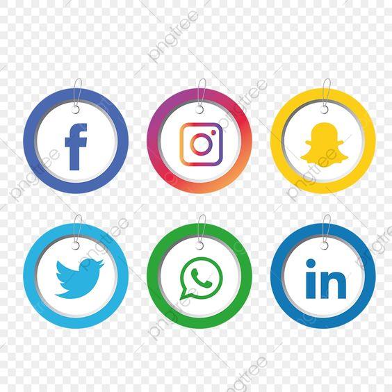 مجموعة أيقونات وسائل التواصل الاجتماعي وسائل التواصل الاجتماعي المرسومة الرموز الاجتماعية الأيقونات وسائل الإعلام Png والمتجهات للتحميل مجانا Social Media Icons Social Media Media Icon