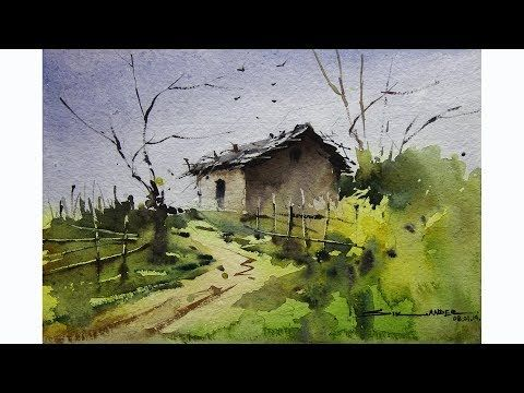 How To Paint Watercolor Landscape Painting By Sikander Singh