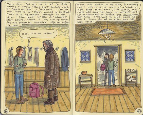 Moleskine Diary Sketchbook, copyright 2014 Nicky Nargesian