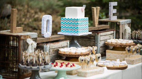 rustic wedding food table ideas | photo courtesy of…