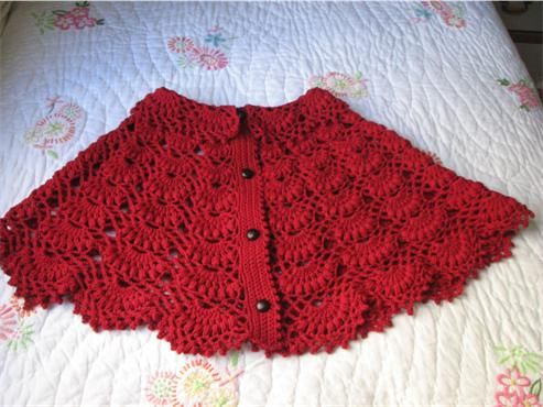 Knitting Pattern For Baby Capelet : Skirts, Yarns and Crocheting on Pinterest