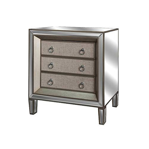 Inch Wide 3 Drawer Wood Nightstand