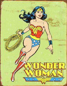 Amazon.com: Wonder Woman Retro Metal Tin Sign, 12x16: Wonder Woman Poster: Posters & Prints