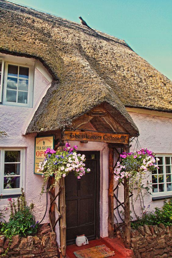 tea shoppe ~ The Weavers Cottage, Cockington England. Near Torquay in Devon.