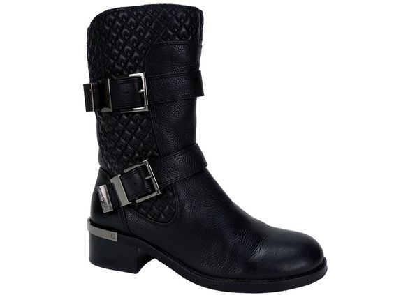 Vince Camuto Women's Welton Mid-Shaft Booties Black Vintage Tumbled Size 6.5 M #VinceCamuto #MidCalfBoots #Casual