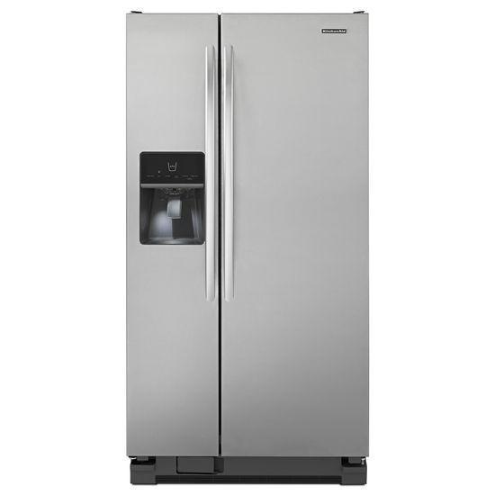 Kitchenaid Ksf22c4cyy 21 Cu Ft Standard Depth Side By Side Refrigerator Nib Kitchenaid Side By Side Refrigerator Kitchen Aid Major Kitchen Appliances