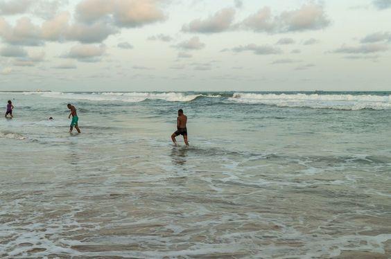 Obama Beach in Cotonou, Benin-Cotonou: May 25: Local residents of Cotonou enjoy their Monday afternoon at Obama Beach on May 25, 2015 in Cotonou, Benin.