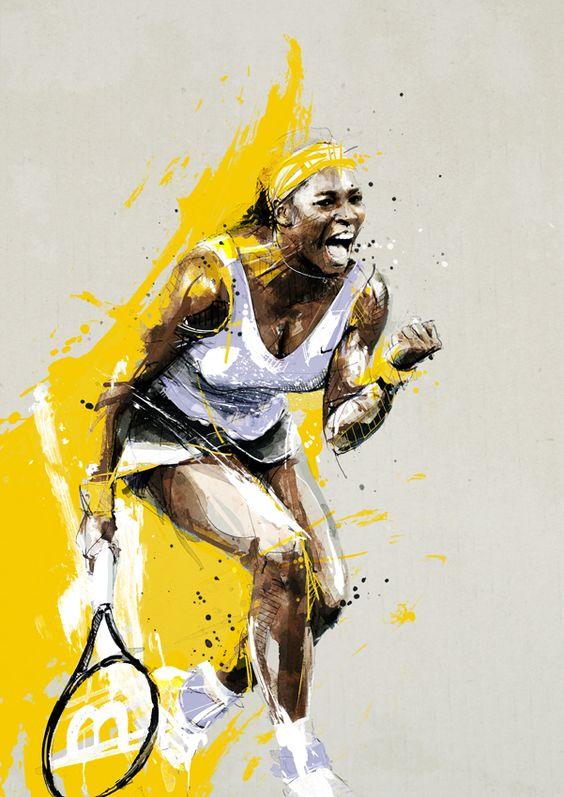 Serena Williams by neo-innov.deviantart.com on @deviantART #williams #serenawilliams #posters #tennnisposters